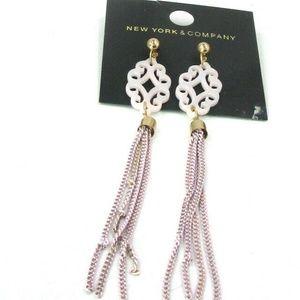 New York & Company Metal Tassel Earrings